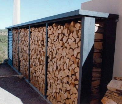rangement bois de chauffage brennholz
