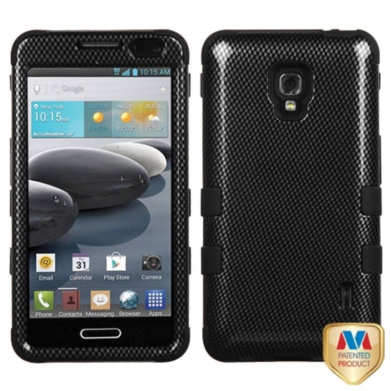 Insten High Impact Dual Layer Hybrid Phone Case Cover for LG Optimus F6 D500 / MS500