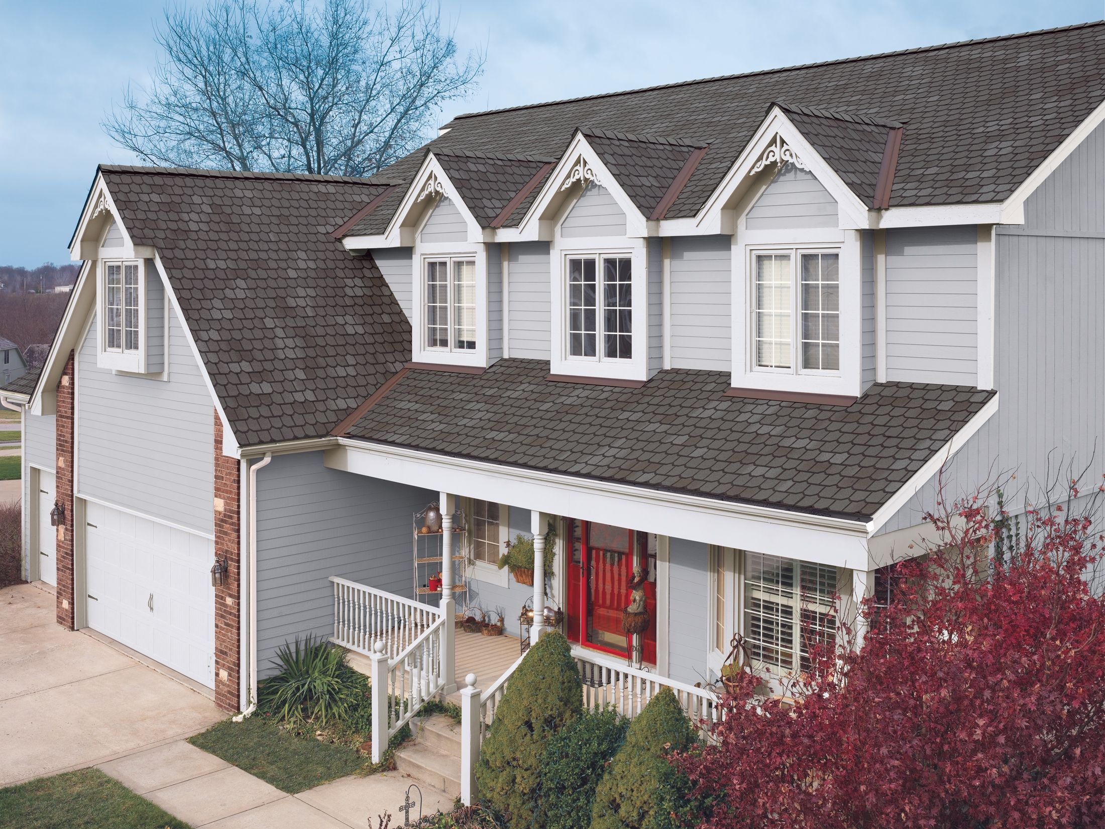 Gaf Roofing Shingles Country Mansion Ii Spiced Pewter Roofing Contractors Residential