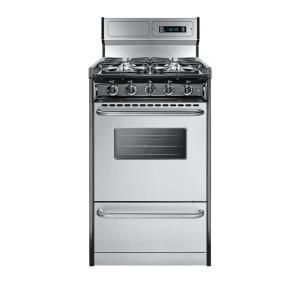 POSSIBLE RANGE Summit Appliance 20 in. 2.46 cu. ft. Gas Range in ...