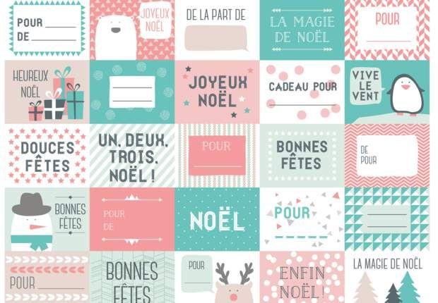 Des étiquettes de Noël à imprimer #etiquettesnoelaimprimer