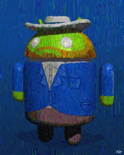 """""""ゴッホ.jpg  Sho Baba: Self-portrait with grey felt hat Bugdroid 3DCG"""""""