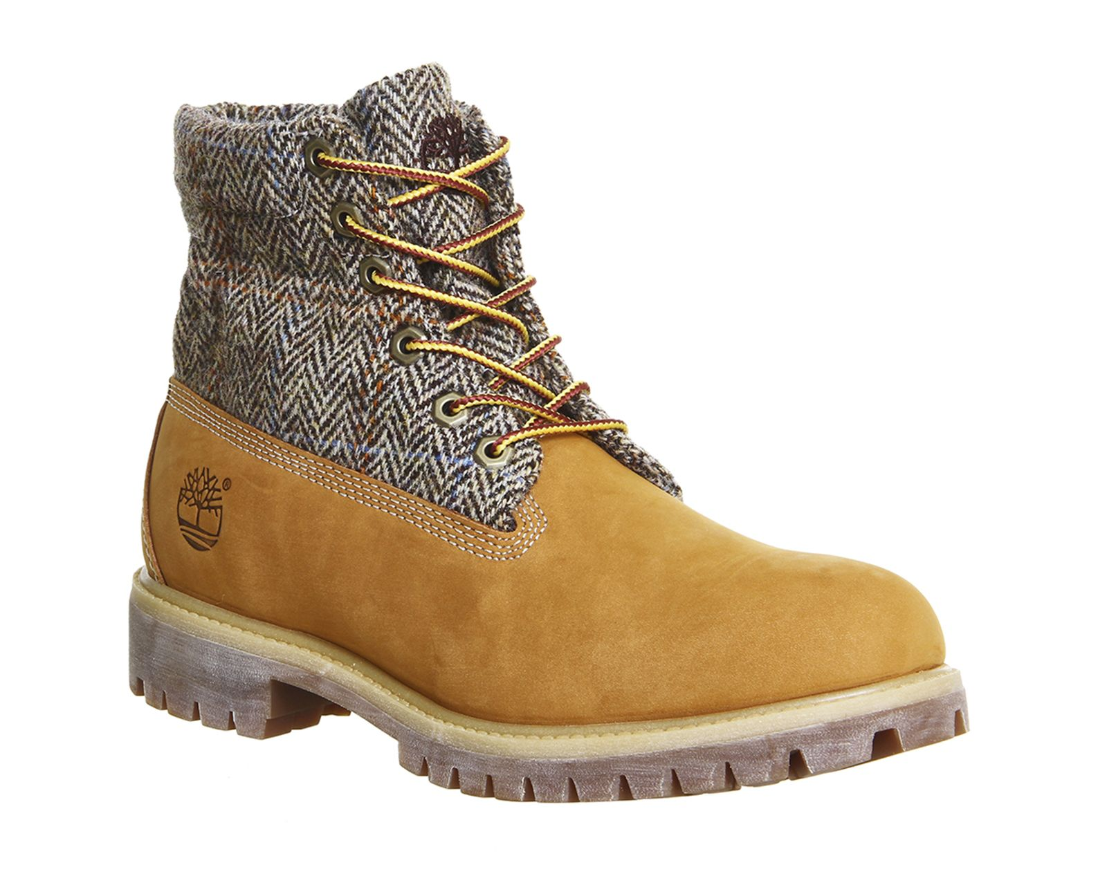 Timberland Icon Roll Top Boots Wheat Harris Tweed Leather - Boots