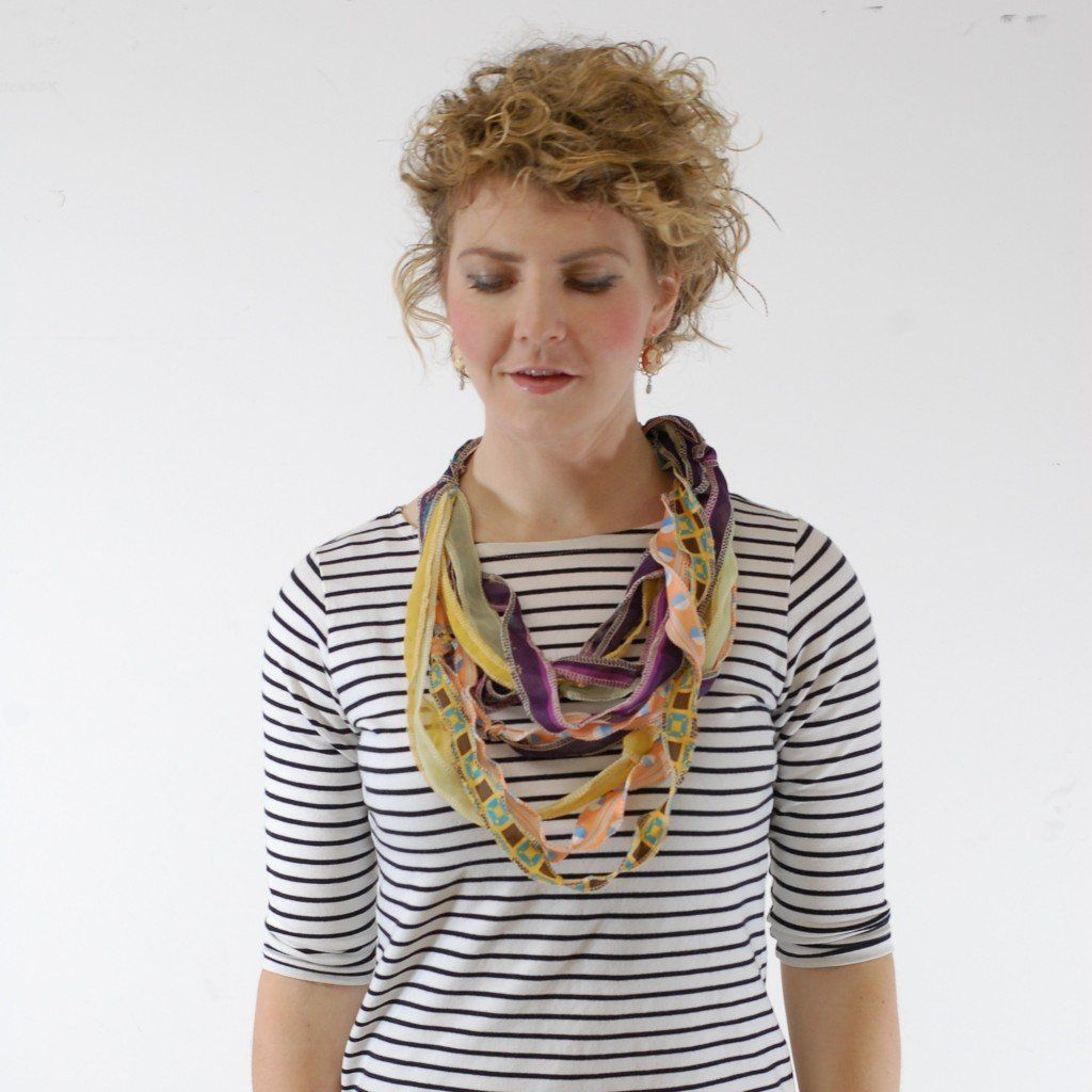 DIY Anthropologie-Inspired Scarf Necklace | Scarf necklace ...