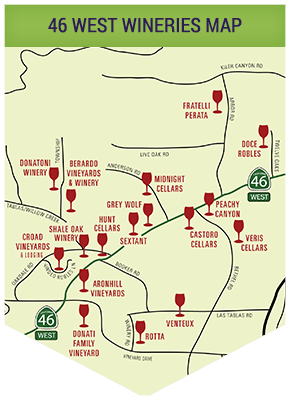 Paso Robles Wineries Map Paso Robles, CA. 46 West Wine Map | Wineries   Paso Robles in 2019