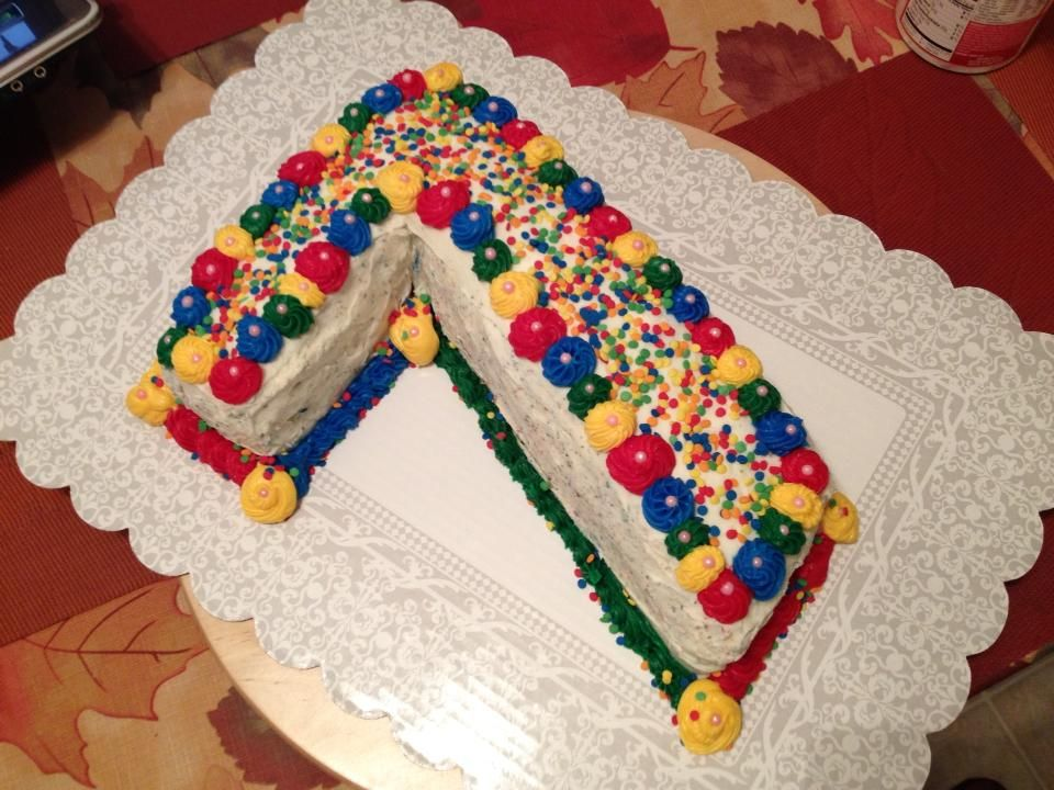 Rainbow Number 7 Cake For A Seven Year Old S Birthday With