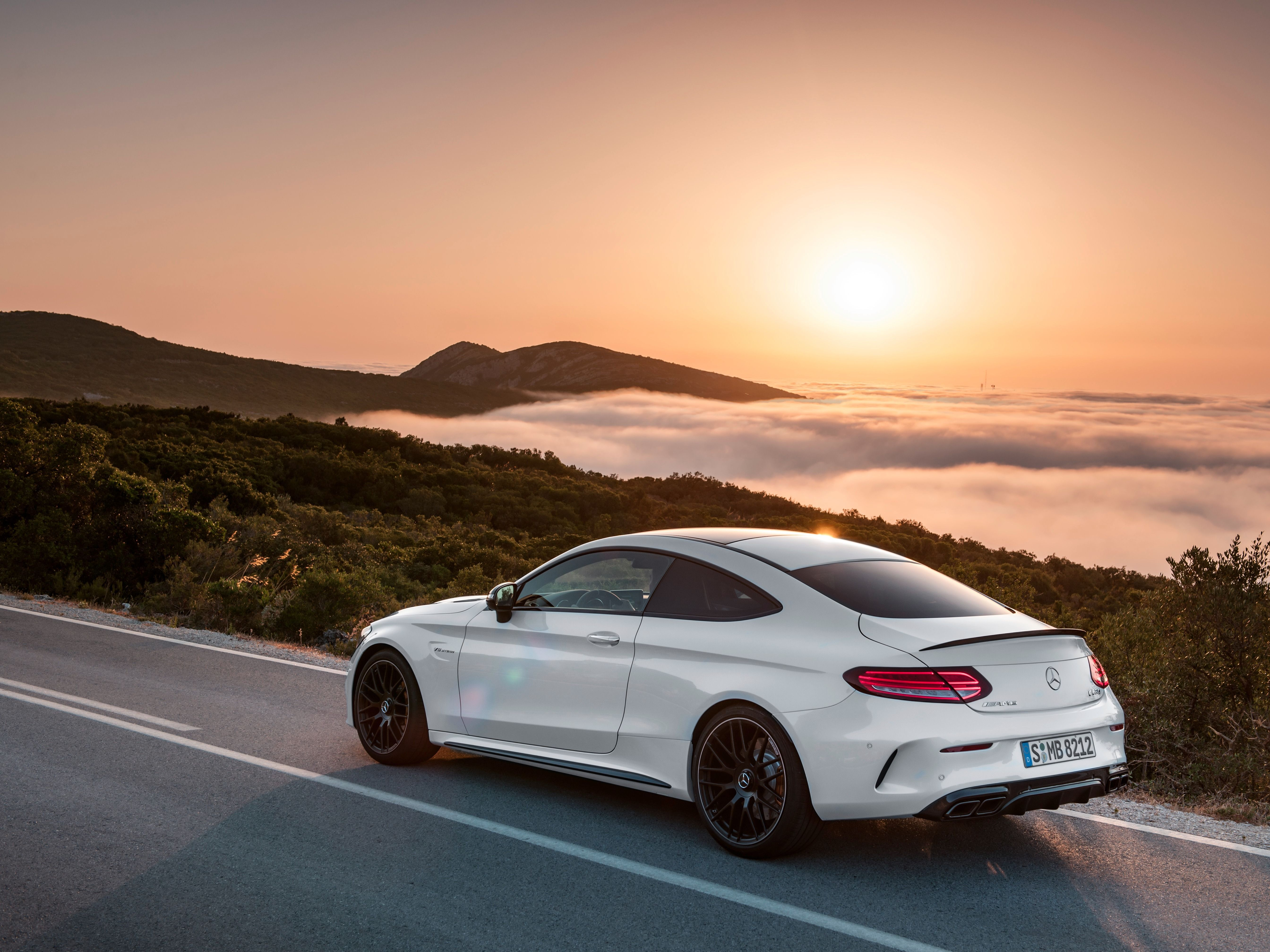 The New Mercedes C Class Coupe Is A Ridiculously Powerful German Muscle Car Mercedes C Class Coupe Mercedes Benz Coupe Mercedes Benz C63 Amg