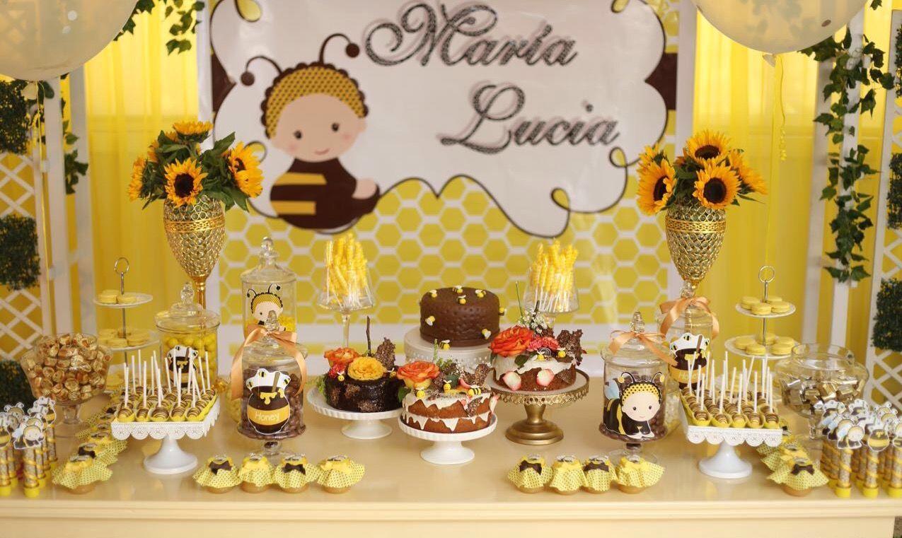 Bumble Bee Flores Personalizado Niños Cumpleaños Fiesta Empavesado Bandera