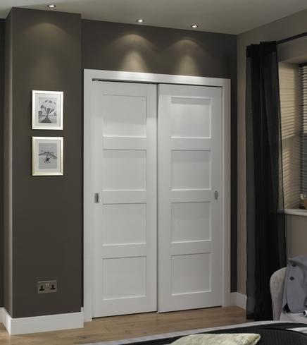 Primed 4 Panel Shaker Home Pinterest Doors Internal