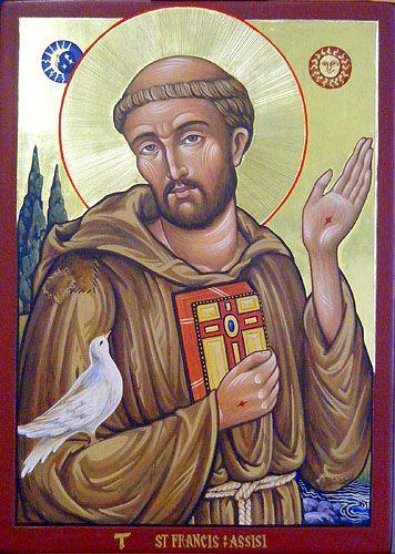 Icons - Saints - The Studio of John the Baptist : sacredart.co.nz ~ St. Francis of Assisi