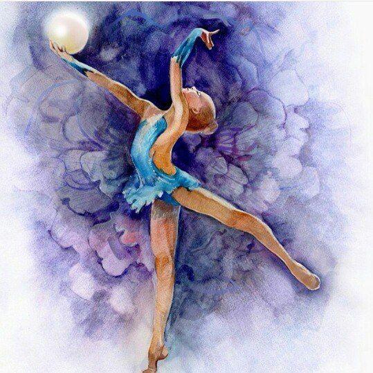 Открытка для тренера по художественной гимнастике