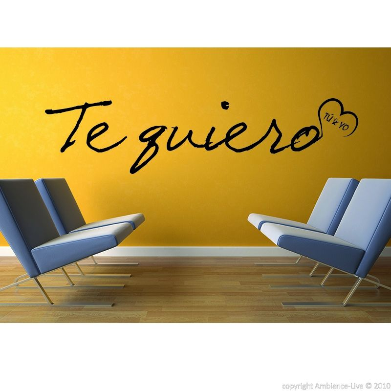 This Te quiero #wall #decal can give you ideas for decorating your Declaration Decal Kitchen Ideas on kitchen decals and stickers, kitchen label ideas, kitchen wall ideas, kitchen exhaust ideas, kitchen knob ideas, kitchen plug ideas, kitchen signs ideas, kitchen panel ideas, kitchen white ideas, blue and green kitchen ideas, kitchen magnetic ideas, kitchen tool ideas, kitchen mural ideas, kitchen hat ideas, kitchen decor ideas, kitchen plate ideas, kitchen seat ideas, kitchen wood ideas, kitchen embroidery ideas, kitchen tattoo ideas,