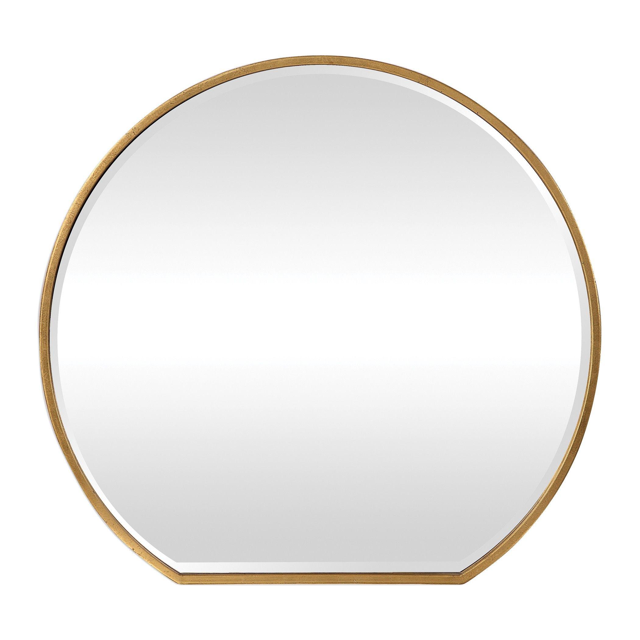 Alexandra Mirror Gold Mirror Wall Gold Leaf Mirror Metallic Gold Leaf