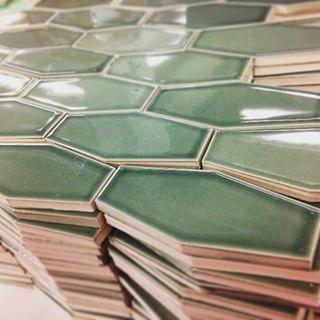 Elongated Hexagon Tile Green Google Search Metallic Backsplash