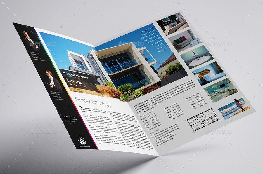 Real Estate Bi-Fold Brochure Template Informational Brochure