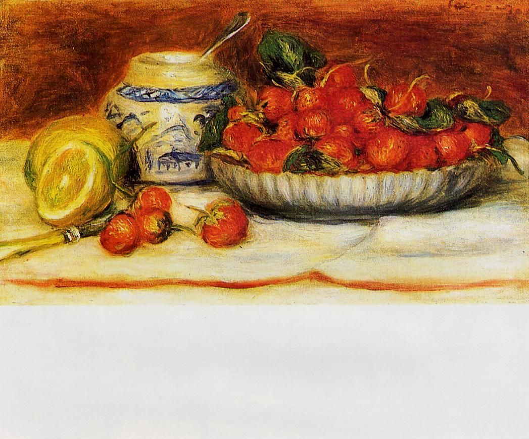 auguste renoir flowers | Strawberries