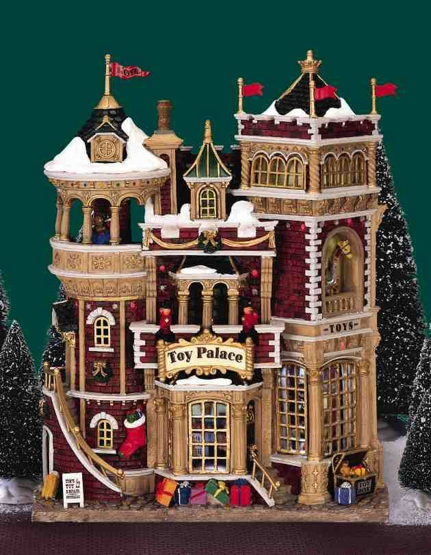Lemax Christmas Village Facade: Toy Palace, Battery-Operated - Lemax Christmas Village Facade: Toy Palace, Battery-Operated