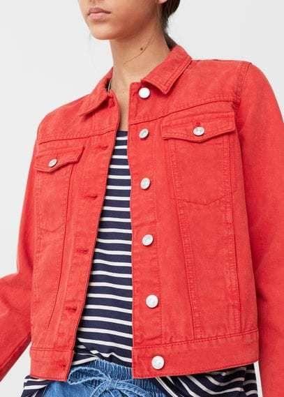 3ab9c63fef6f MANGO Color Denim Jacket