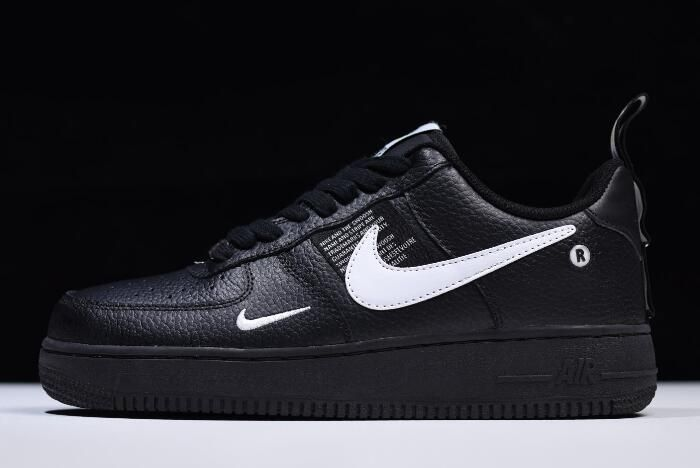 Nike Air Force 1 '07 Leather Emblem Black For Sale