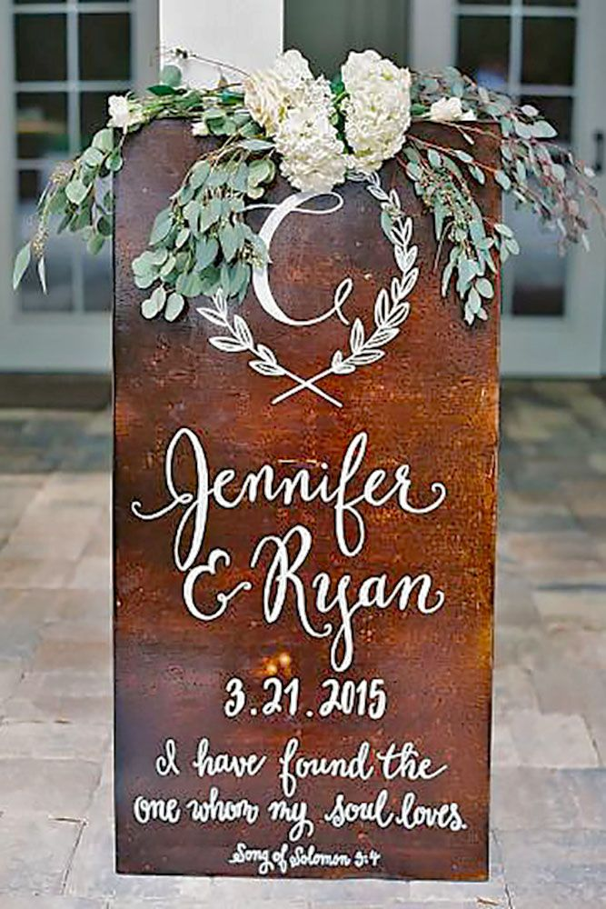 Clever & Funny Wedding Signs For Your Reception Rustic
