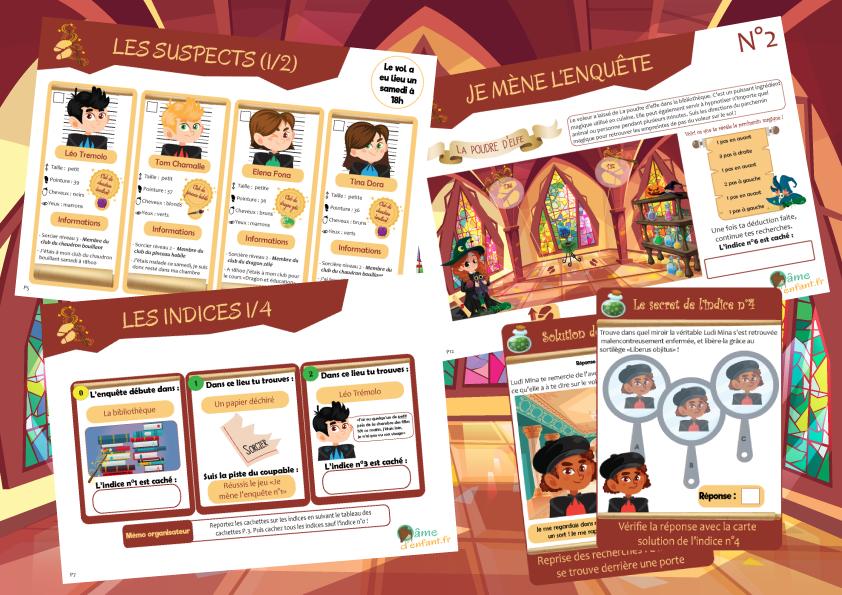Enquete Policiere Chez Les Sorciers 10 12 Ans Enquete Policiere Jeux Enfant Gratuit Sorciere