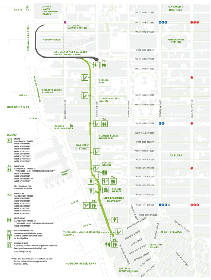 Highline Nyc Map NYK Map | Friends of the High Line .pinkcarryon.| Maps  Highline Nyc Map