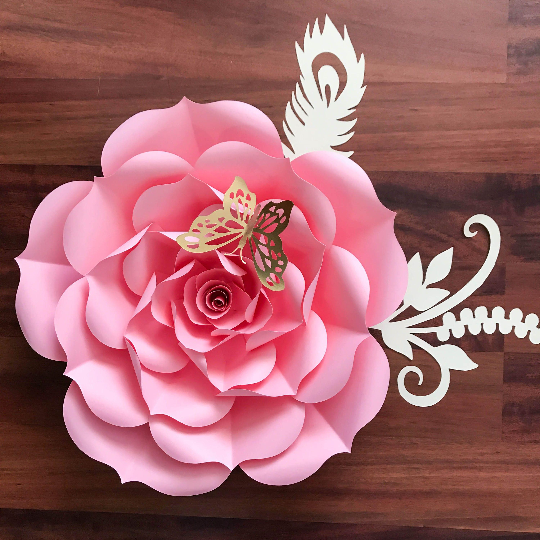 Paper Flowers Paper Flowers Svg Petal 93 Rose Template Diy