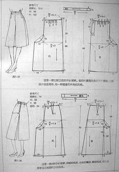 7dbc0a855 Pin de Daisy Zambrano en Molde falda pantalon | Moldes de ropa ...