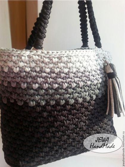 89c85710c8d4 Купить или заказать Вязаная крючком сумка Алифтина из трикотажной пряжи в  интернет-магазине на Ярмарке