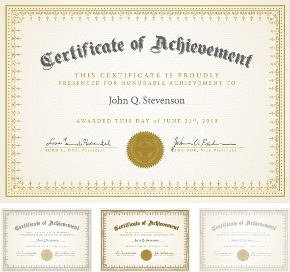 certificate templates 7 more 賞状 pinterest certificate design