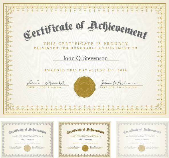 Certificate Templates 7 … | Pinterest