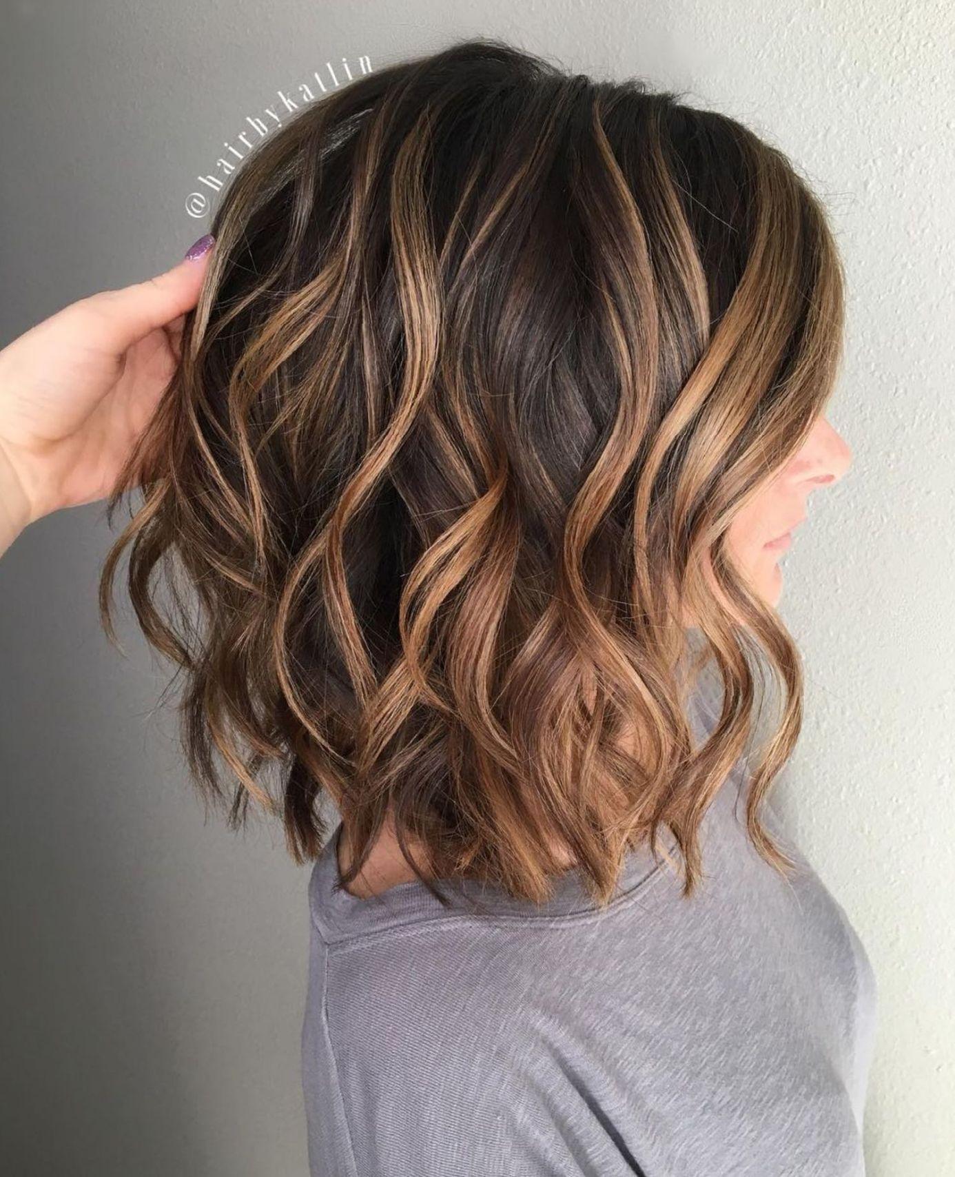 Caramel Highlights For Medium Brown Hair Medium Hair Styles Hair Lengths Dark Chocolate Hair