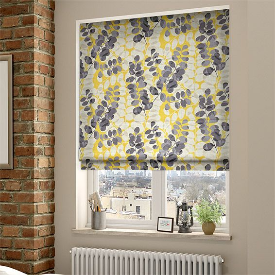 . Lunaria Sunflower Roman Blind from Blinds 2go   accessories in 2019