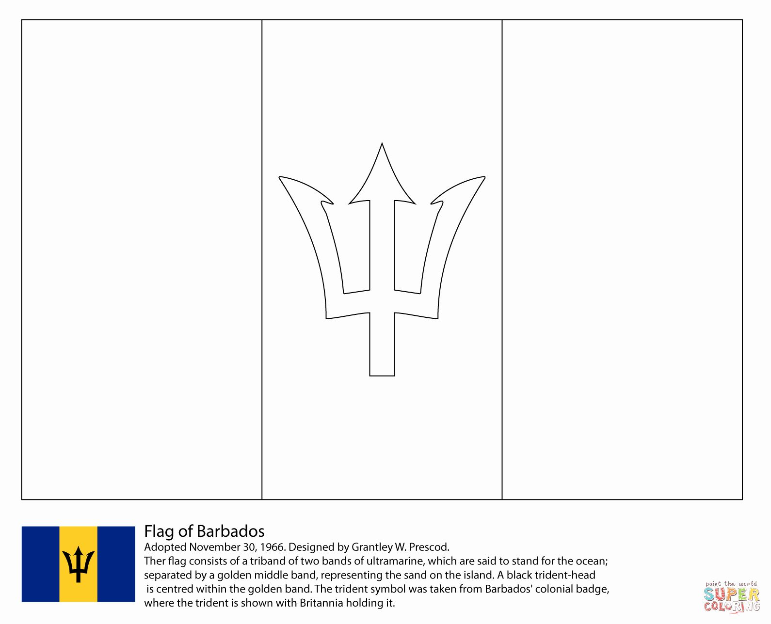 Uruguay Flag Coloring Page Beautiful Map Of Barbados Colouring Page