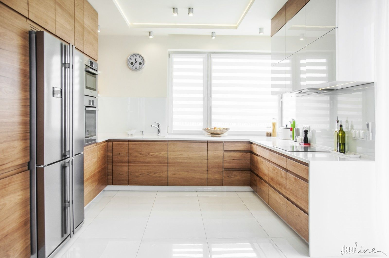 Kuchnia Fornir I Biel Kitchen In 2019 Skandi Kitchen Home