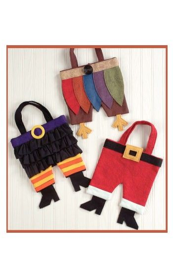 Holiday Purseonalities sewing pattern for Christmas, Thanksgiving & Halloween purses – IJ743 from IndygoJunction.com