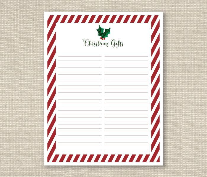 Christmas Gift List Free Printable Ashlee Proffitt {Itu0027s the - free printable christmas lists