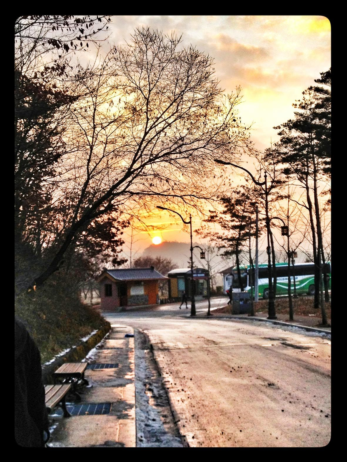 Sunset At Andong South Korea Hahoe Village