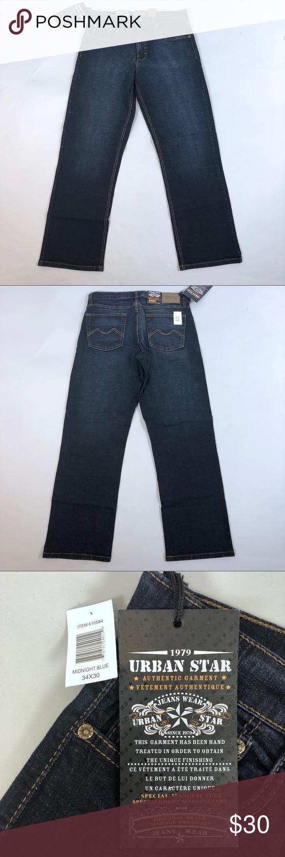 fa817832 Urban Star Men's Jeans 34x30 Midnight Blue NWT Urban Star Mens Relaxed  Straight Denim Jeans Midnight Blue Size 34x30 NEW Relaxed fit, straight leg.