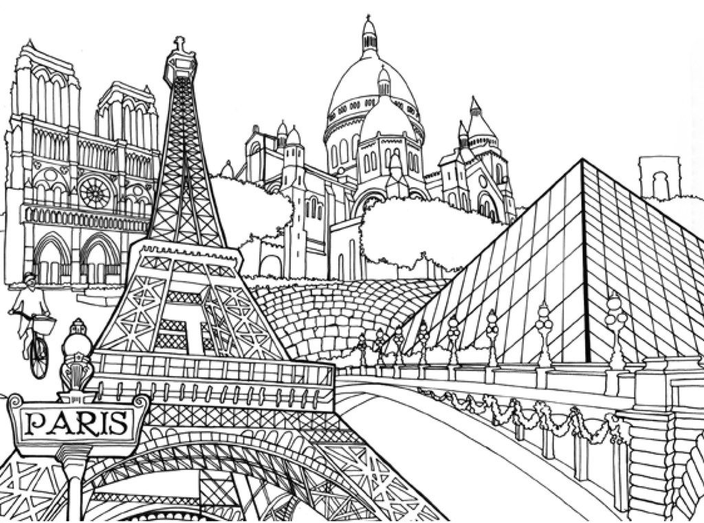 Pocket Posh Panorama Adult Coloring Book: Architecture Unfurled ...