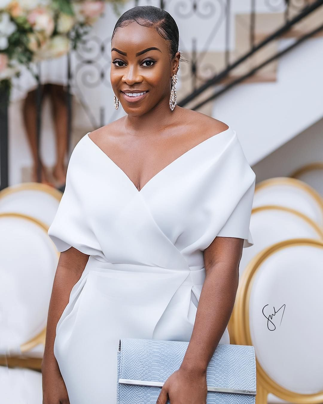 We Love Ghana Weddings On Instagram Beautiful Wedding Guest See More On Ghanaweddingmarket Ghana Wedding Wedding Guest Dress White Wedding Guest Dresses