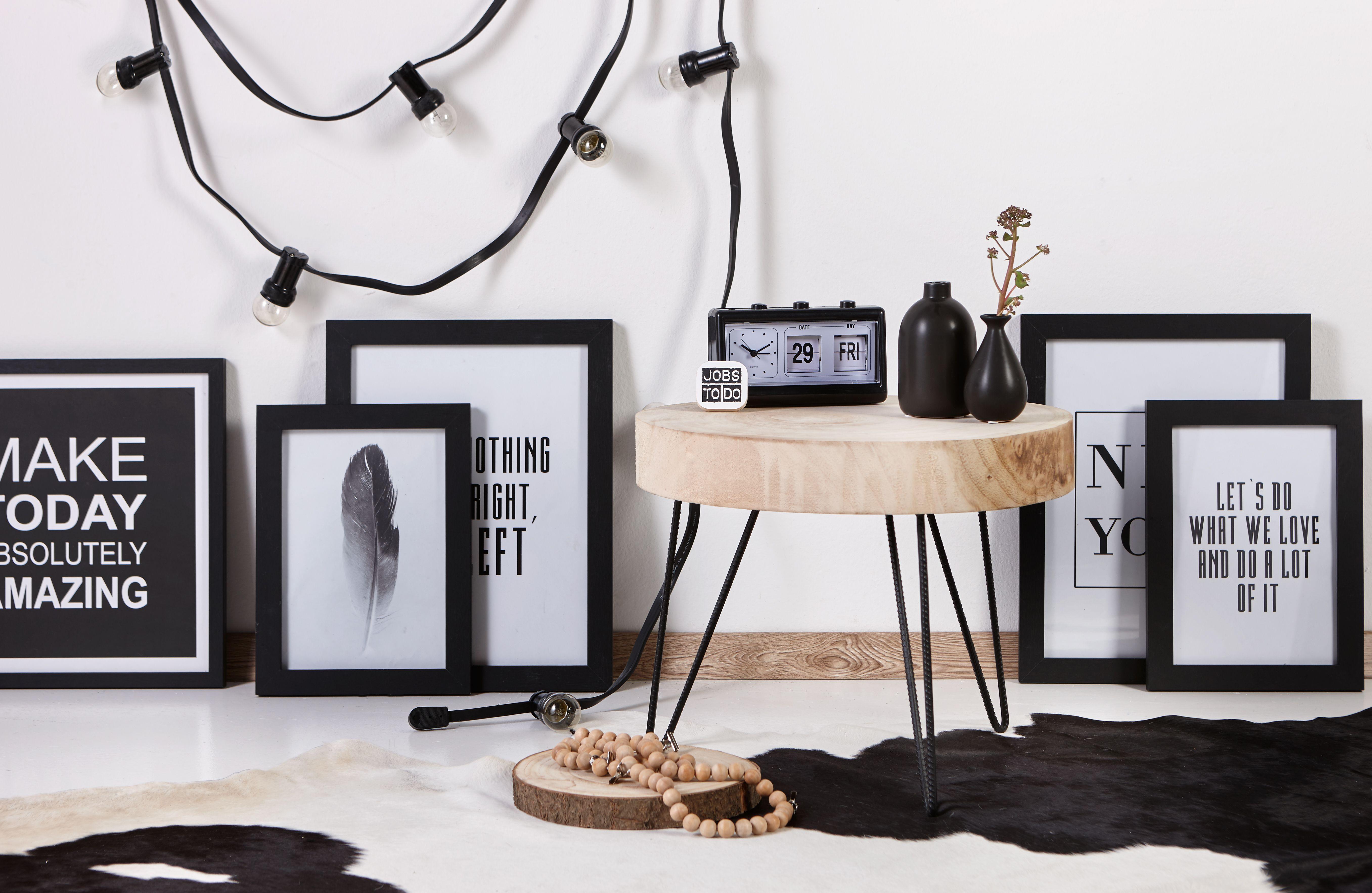 Bijzettafel calais met houten blad past perfect in een modern