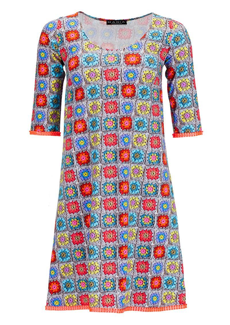 2dbf027ff005 Sjov retro kjole Mania Copenhagen ANITA crochet dress