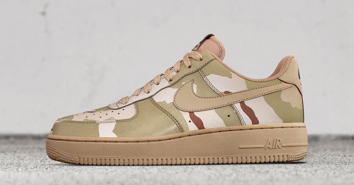 promo code a79a6 88c0f Nike Air Force 1 Low Tan Camo