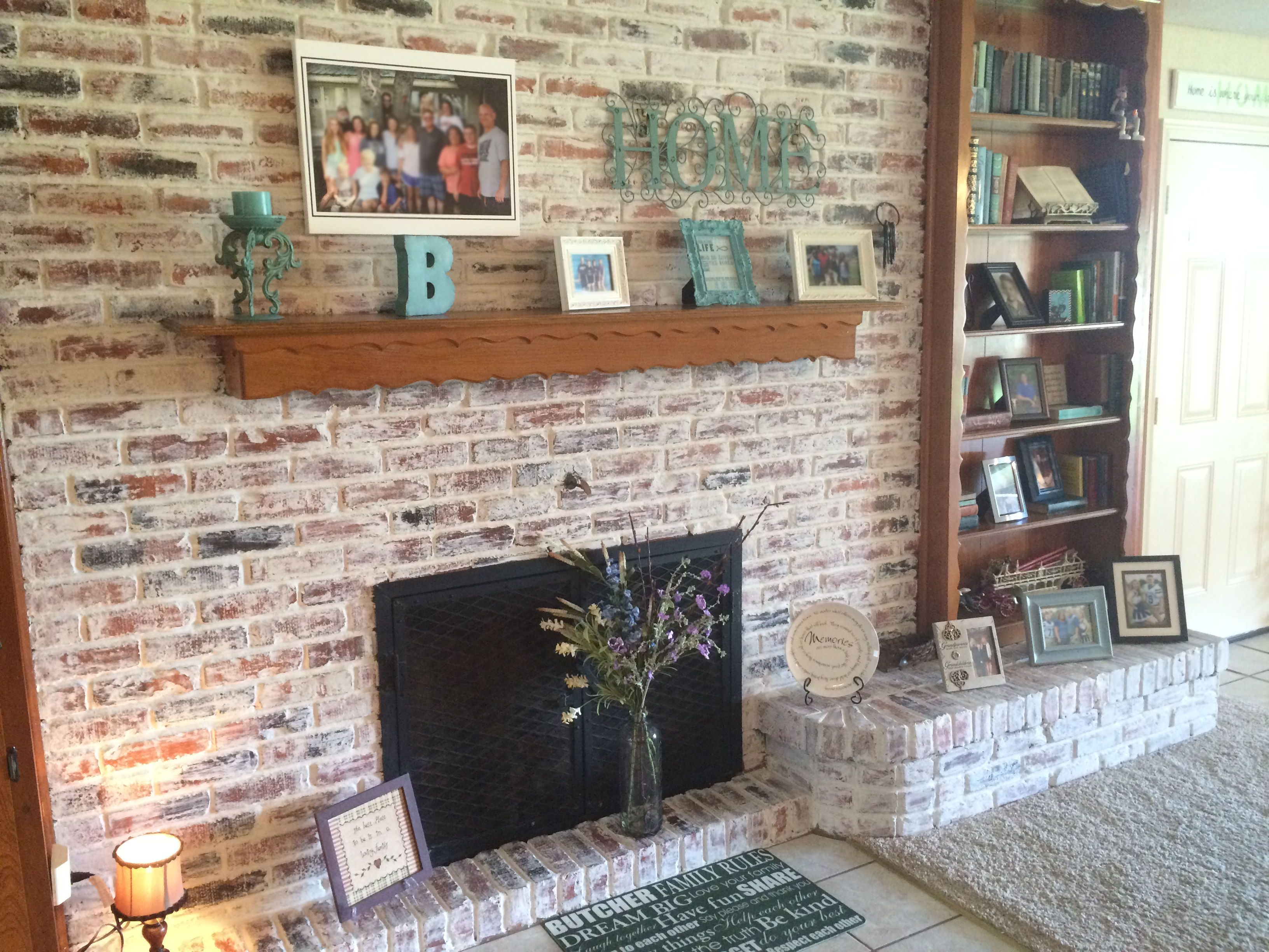 Bricks and Brick wall fireplaces
