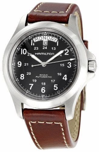 Hamilton Men's H64455533 Khaki King Black Dial Watch Hamilton. $420.00. Water-resistant to 165 feet (50 M). Durable sapphire crystal. Stainless-steel case. Case diameter: 40 mm. Automatic movement. Save 20% Off!