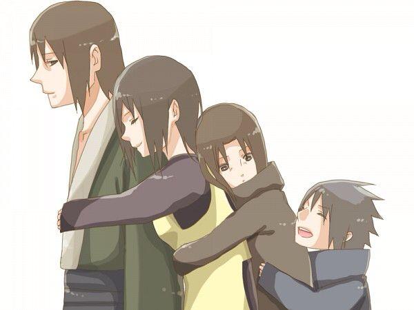 Fugaku, Mikoto. Itachi and Sasuke | Naruto | Uchiha ...