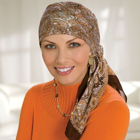Square Head Scarves, Chemo Scarf, Cancer Scarves, Head ...