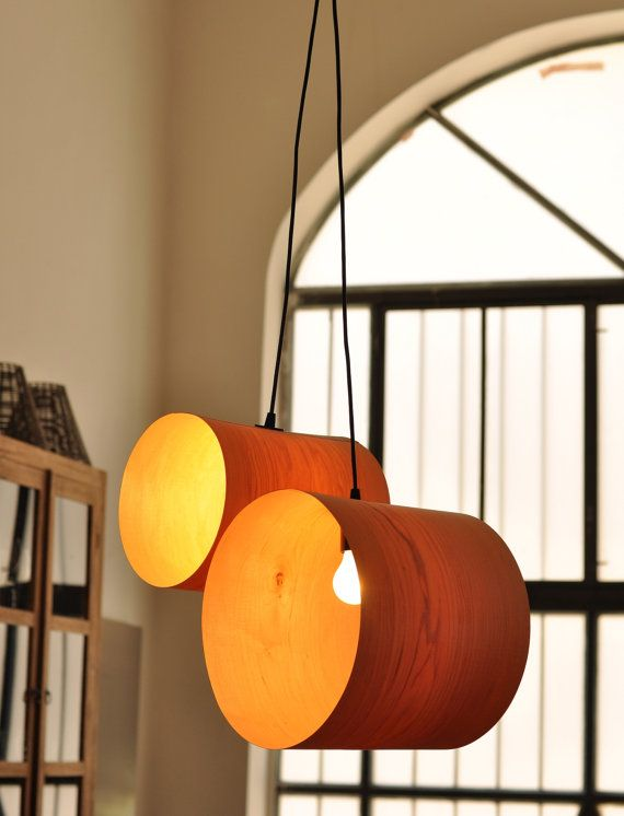 Paar Lichtroehren Aus Furnier Von Vayehi Auf Etsy Diy Lamp Shade Diy Lamp Small Lamp Shades