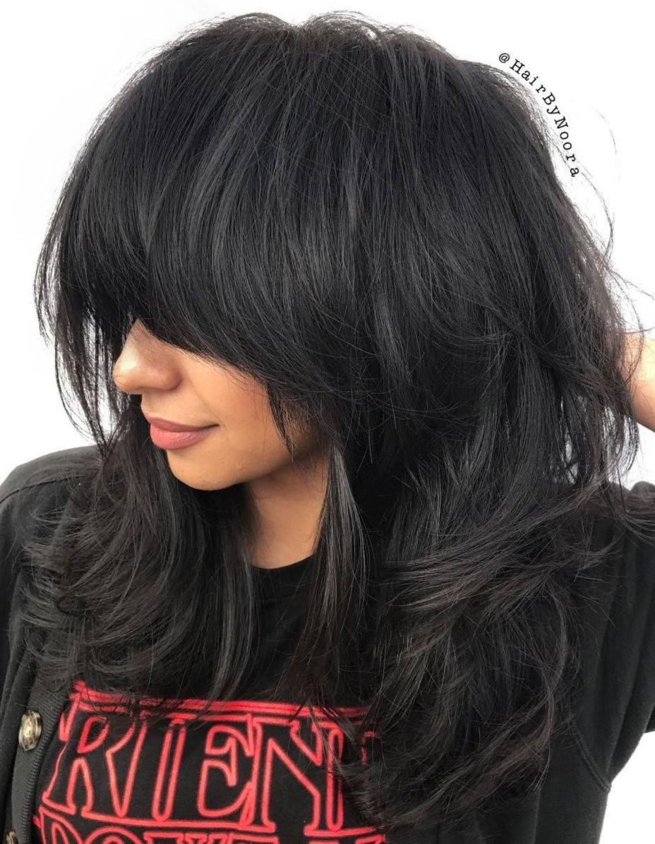 cute and effortless long layered haircuts with bangs hair cut
